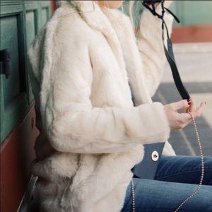 Madewell Stagedoor Faux Fur Coat